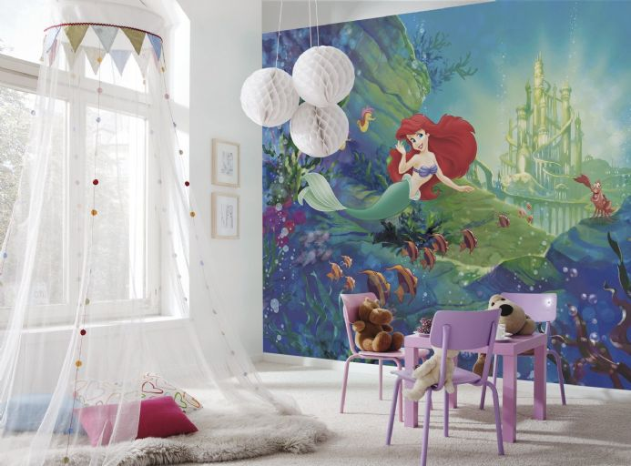 Ariel's Castle wall mural wallpaper Disney| Buy it now